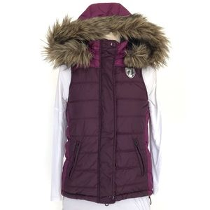 American Eagle Puffer Vest with Hood